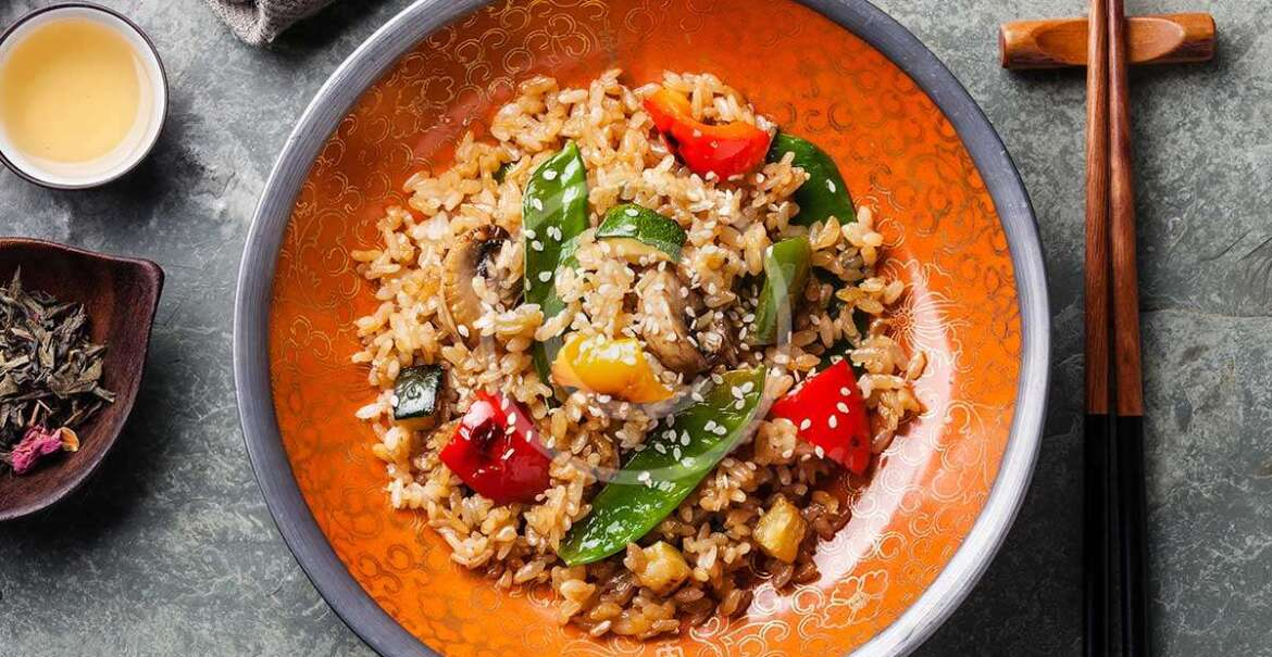 Rice with Vegetables and Mushrooms